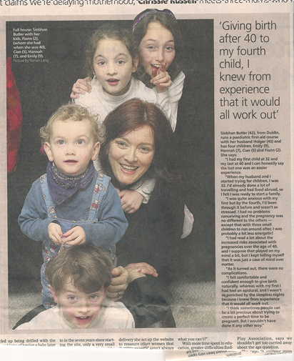 Article Irish Independent 24.2.2010 Interview with Siobhan Butler from First Aid for Everyone