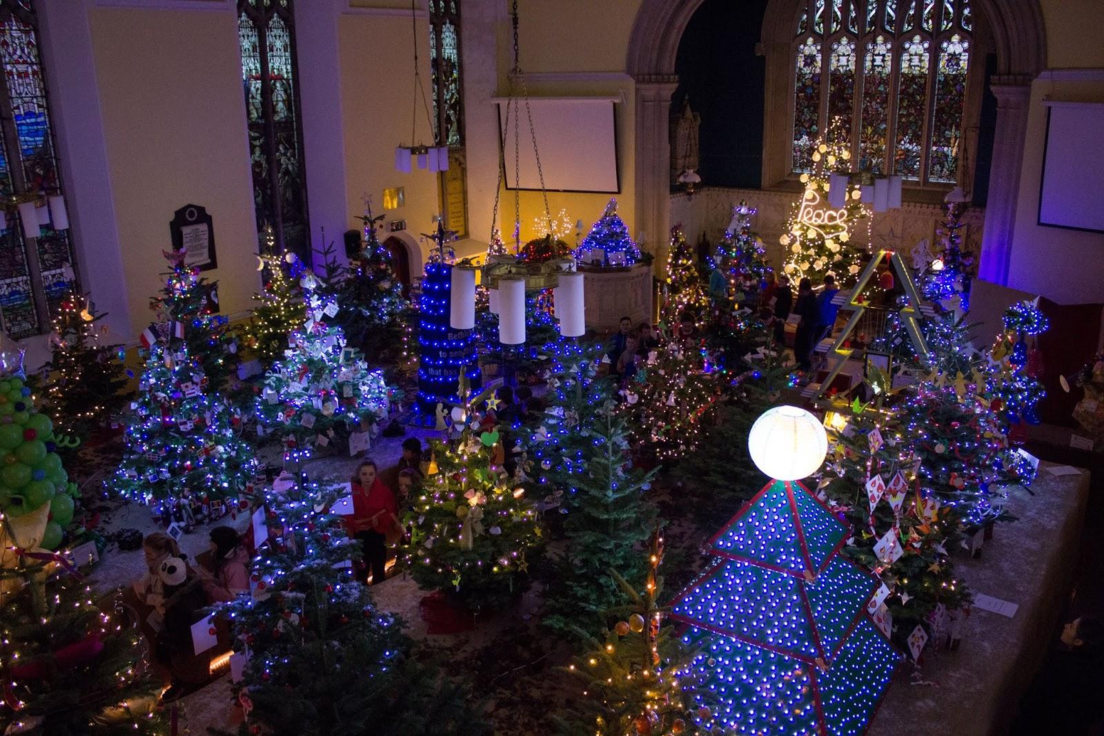 Christmas tree festival at Crinken Church